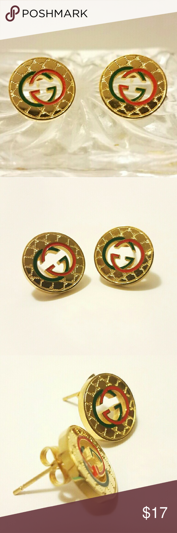 0455da773 Orginal Gucci Earrings Vintage Gold Gucci Inspired Earrings Excellent  Quality Stainless steel will not fade, (NO LOW BALL OFFERS PLEASE) Make me  an offer NO ...