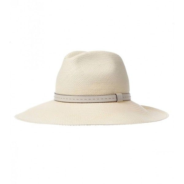 0d7286bd7a2 Gucci Off-White Straw Wide-Brimmed Hat ( 385) ❤ liked on Polyvore featuring  accessories