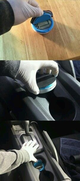 Hide Money In A Mint Container In Your Cup Holder Car
