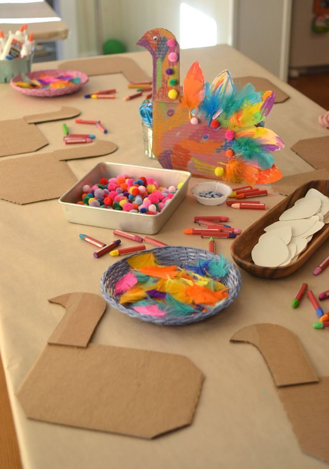 Turkey Craft from Cardboard for Thanksgiving
