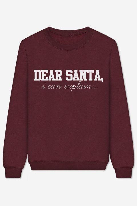 Rad | Dear Santa I Can Explain Sweater | Comfy Clothes (PJ ...