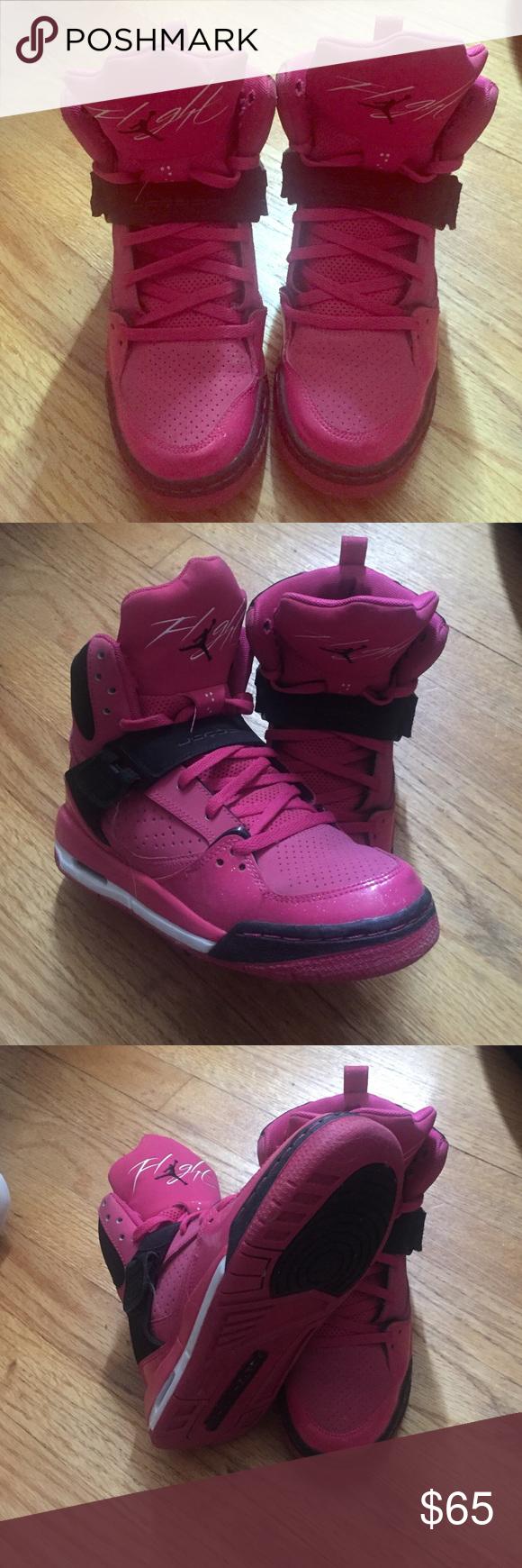 Jordan Flight -hot pink & black- Size 6 - Jordan Flight - hot pink & black - very good condition - Jordan Shoes Sneakers