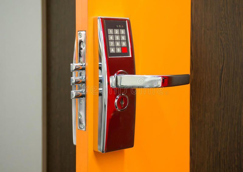 Electronic Security Door Lock A Photo Of An Electronic Security Door Lock Affiliate Security Electron With Images Door Lock Security Commercial Locksmith Locksmith