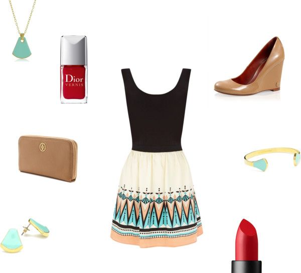 """""""Tribal with a Touch of Red"""" by leradulescu on Polyvore"""