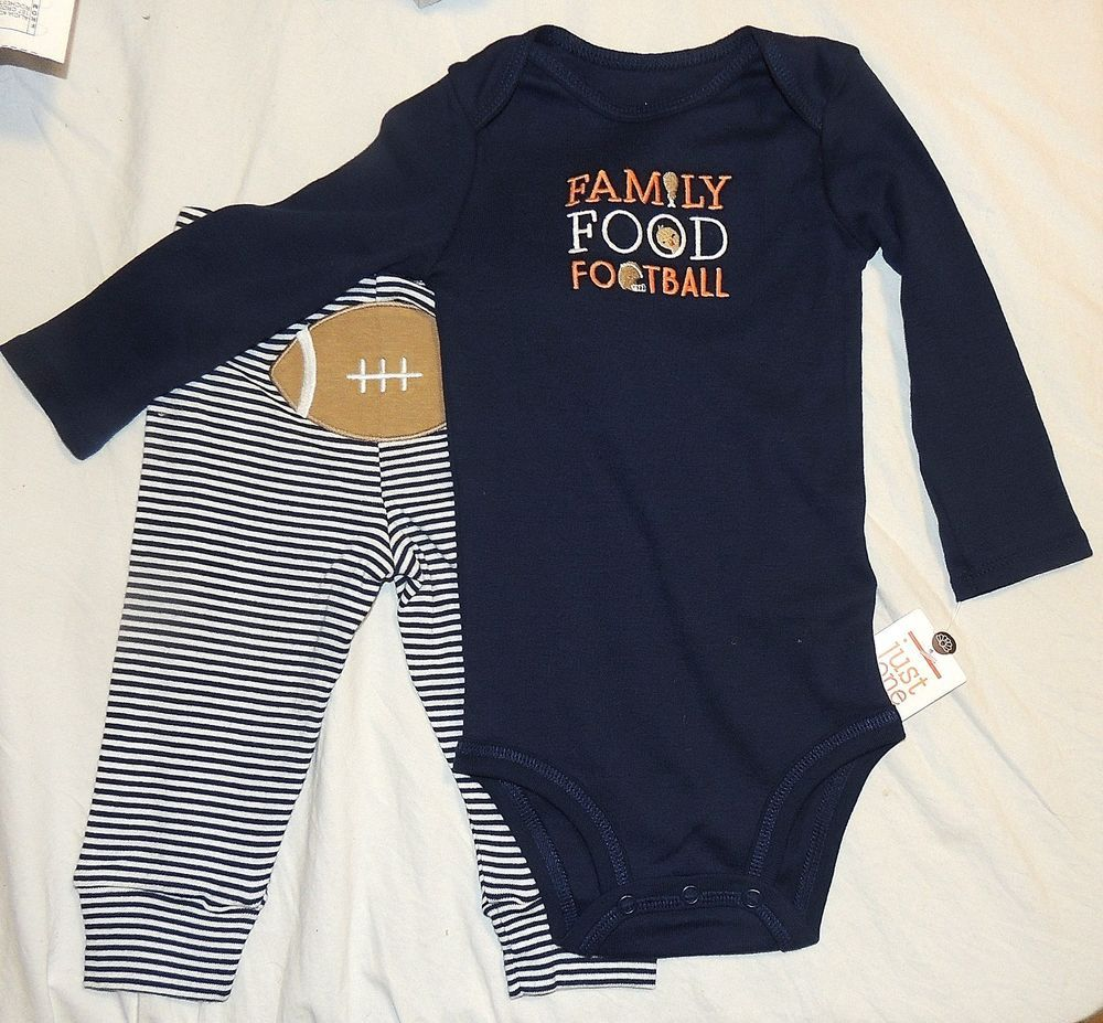 New Baby First Thanksgiving Family Food Football Unisex Carters 9 12m Outfit Carters Thanksgiving Clothes New Baby Products Baby Clothes