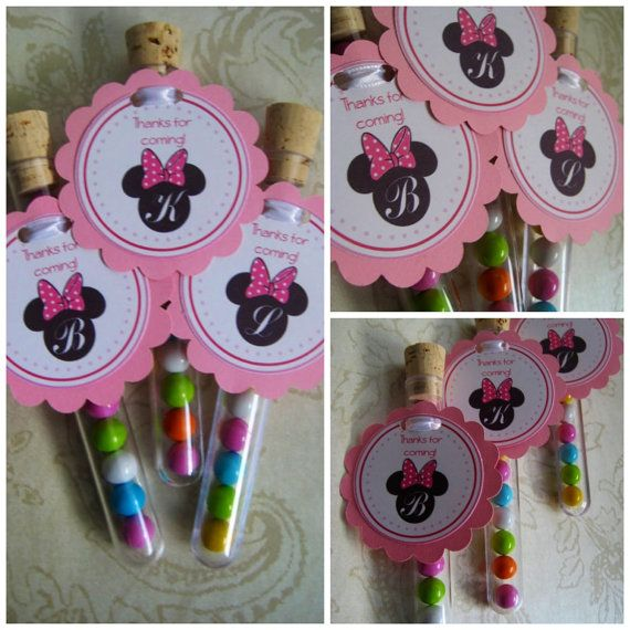 Minnie Mouse First Birthday Party Via Little Wish Parties: Birthday Party Favors, Candy Test Tubes, Test Tube Favors