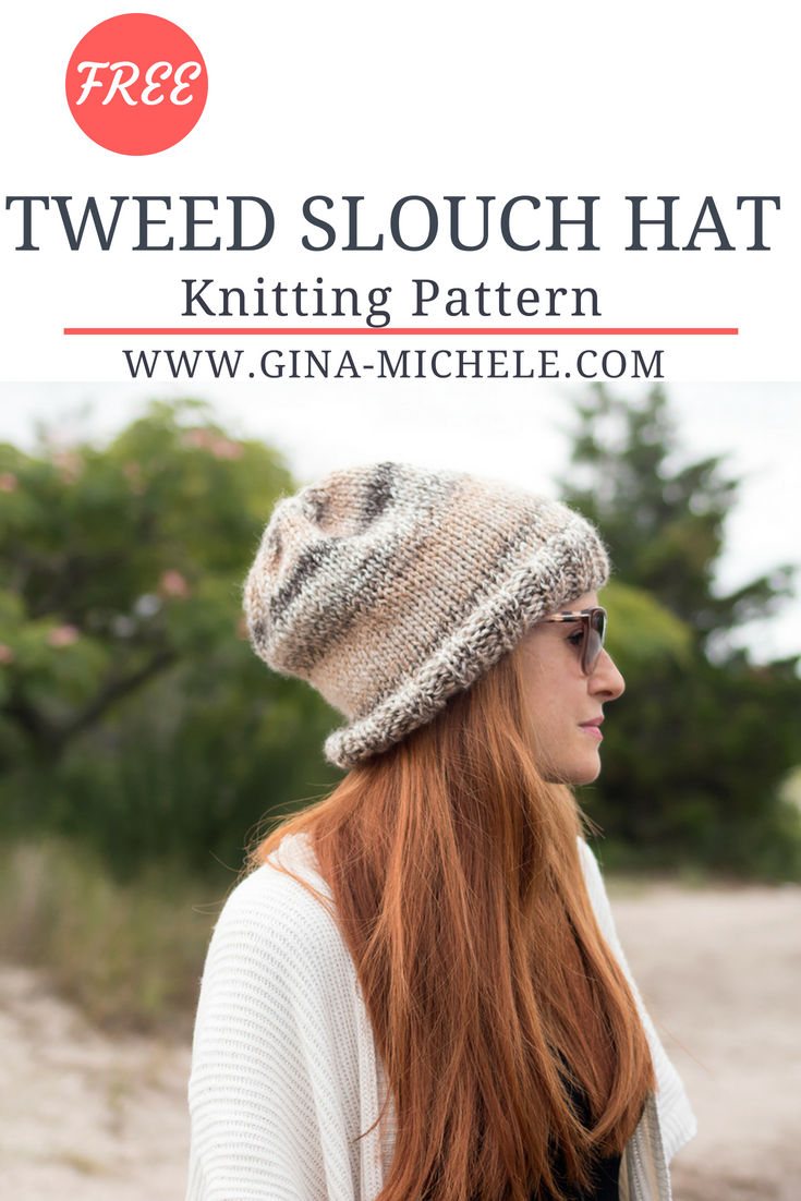 Tweed Slouch Hat Knitting Pattern | Pinterest
