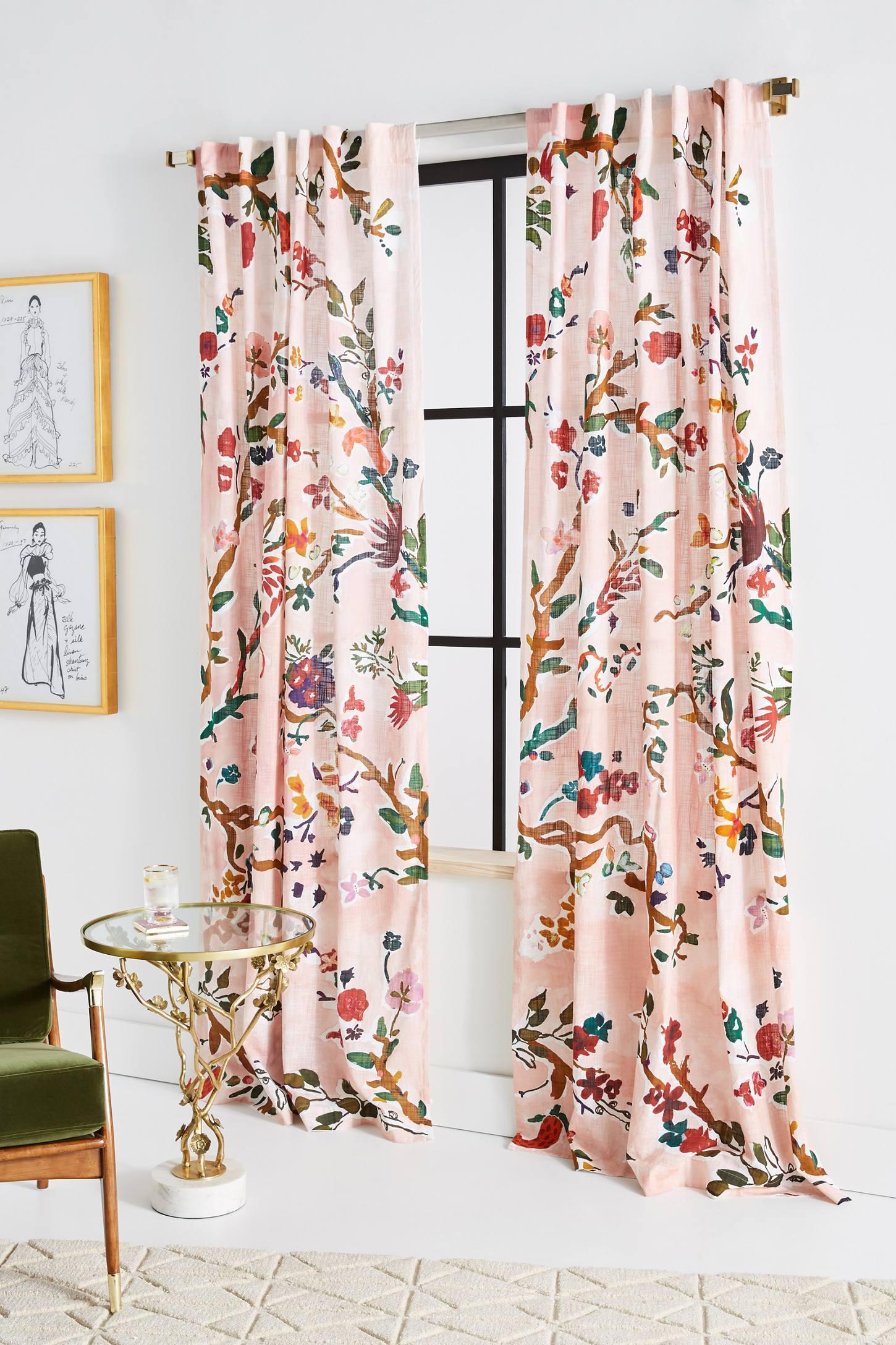 Cecilia Curtain Interior Design Bedroom Floral Curtains