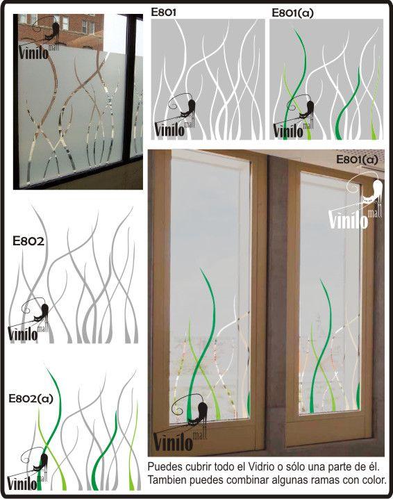 Vinilos decorativos esmerilados para vidrios 215 00 en for Vinilos decorativos vidrio