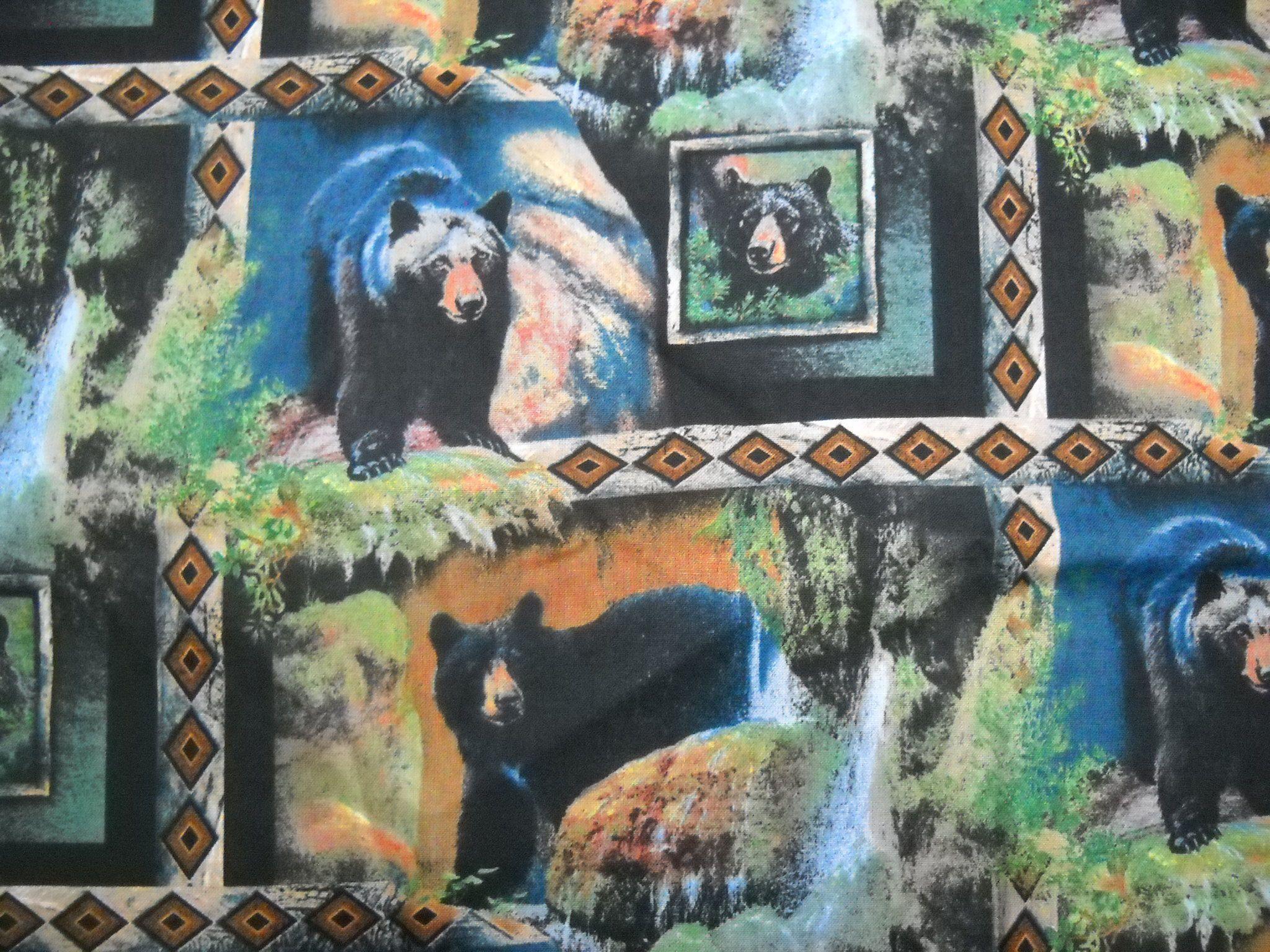 BLACKFOOT CANYON PANEL BEAR FABRIC