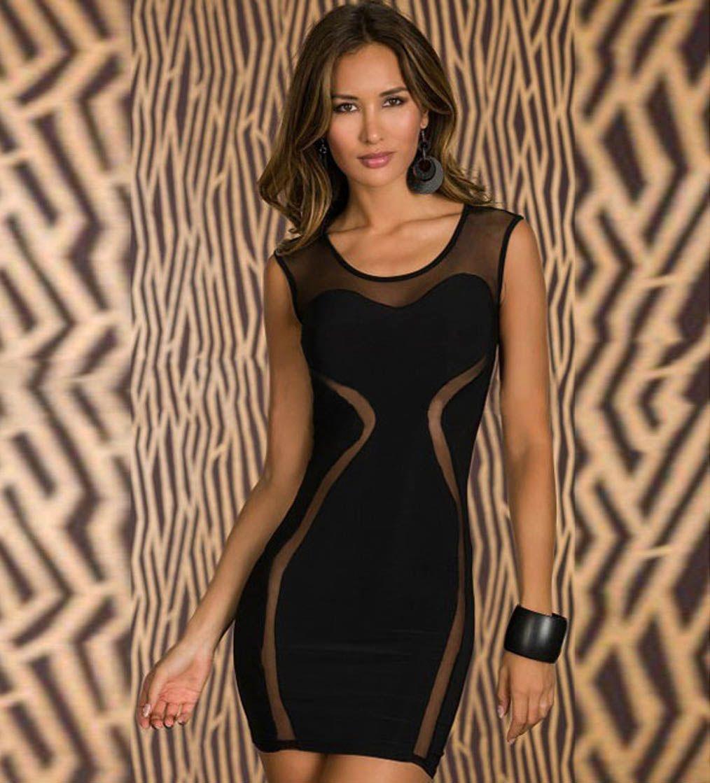 Sheer mesh panel sexy little black dress ropa pinterest jpg 1014x1119  Graduation maykool dresses 4fbf9222a