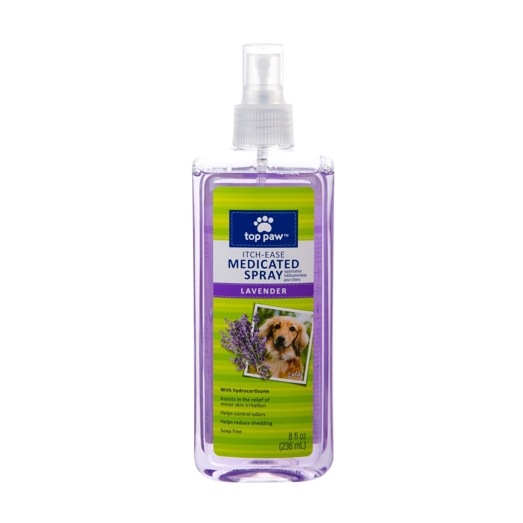 Top Paw ItchEase Medicated Dog Spray Lavender size 8