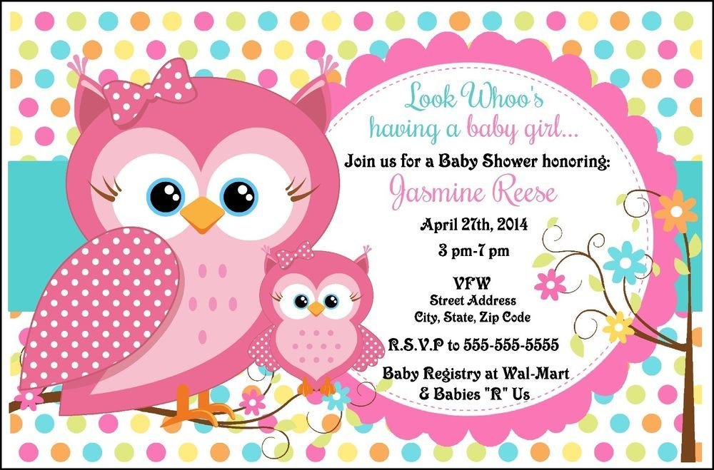 8 OWL BABY SHOWER INVITATIONS PARTY FAVORS BIRTHDAY #BabyShower Baby shower buho