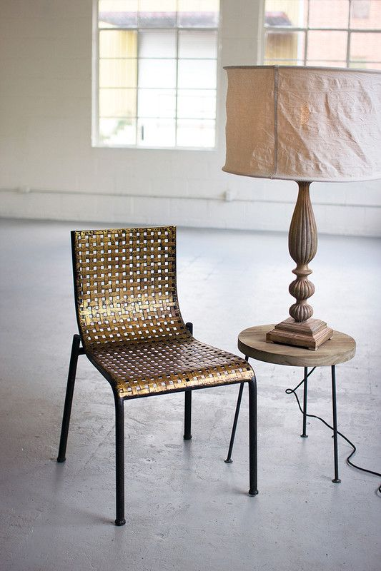 woven metal furniture. Antiqued Gold Woven Metal Chair - At West End Furniture N