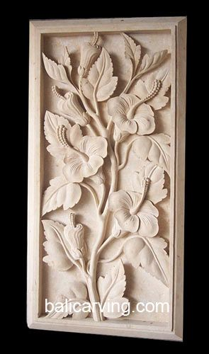 Beautiful flower stone wall relief carving buy