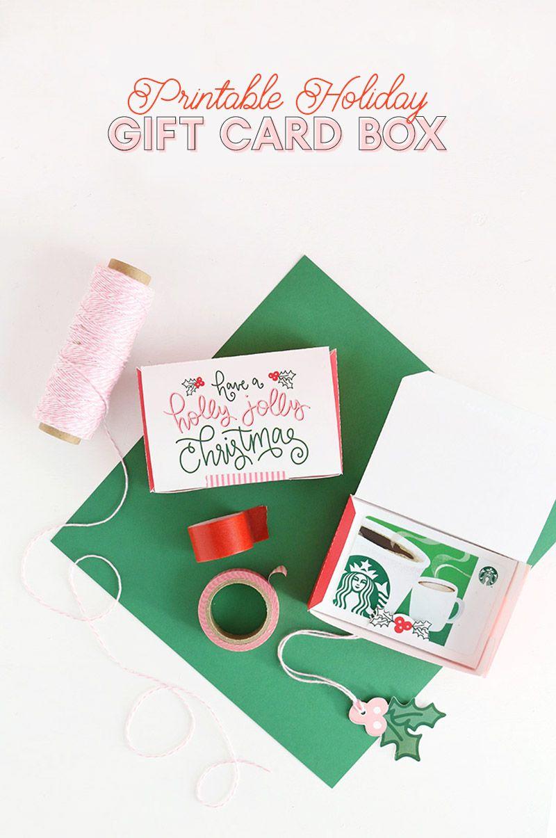DIY Gift Card Box - Free Printable Gift Idea for Christmas ...