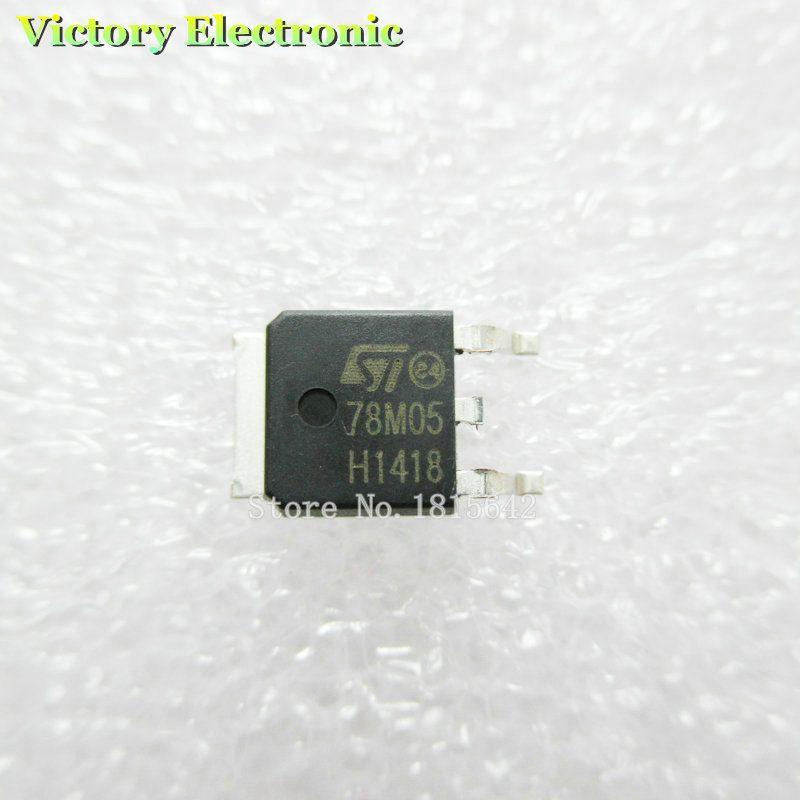 20PCS/LOT Transistor 78m05 smd TO-252 0.5A THREE TERMINAL POSITIVE VOLTAGE REGULATORS 78m05