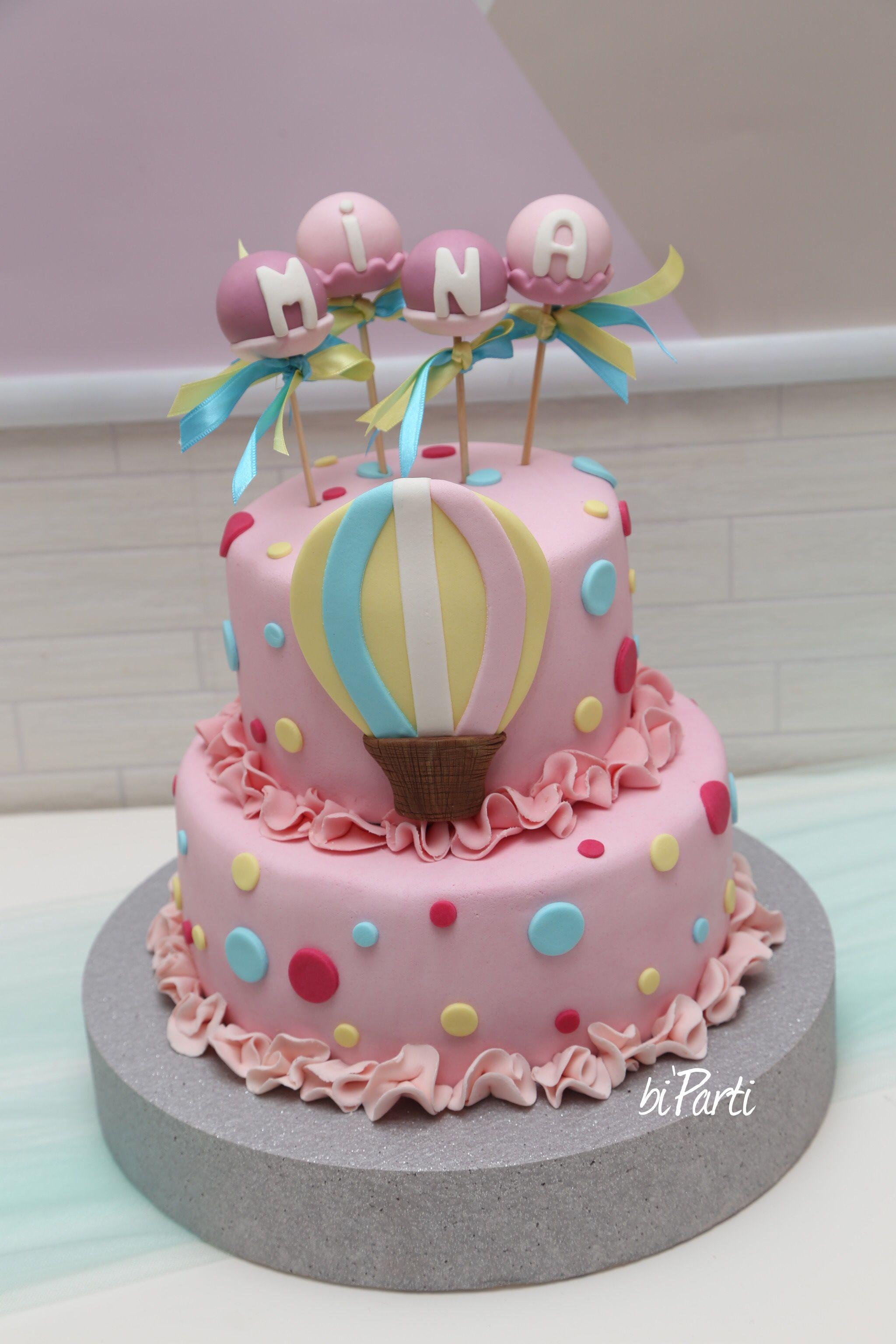 Baby Shower Cake Baby Girl Cake Welcome Baby Cake Balloon