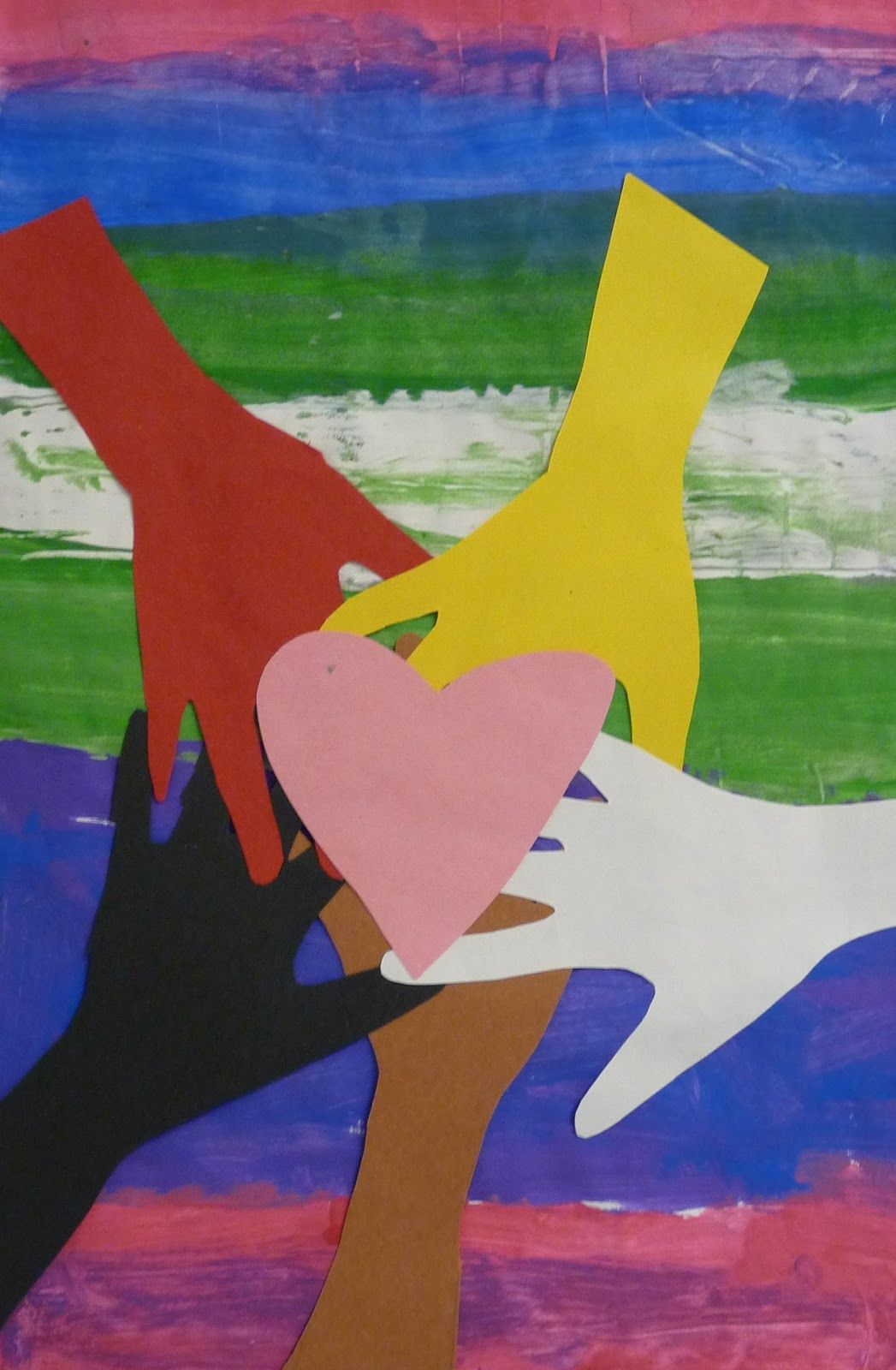 Art Paper Scissors Glue Mlk Inspired Handprint Craft