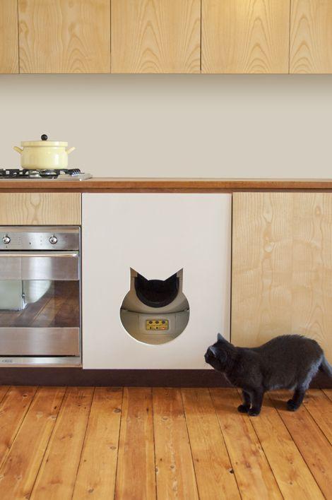 Lovely Litter Robot Cabinet #9 - Wel, Daar Zit Namelijk De Litter-Robot Achter Verstopt: Een Kattenbak Die  Zichzelf Automatisch Reinigt Waardoor Je Er Zelf Quasi Geen Werk Meer Aan  Hebt, ...