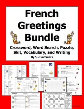 French greetings and leave takings bundle french greetings french greetings bundle by sue summers get ready for back to school with this french m4hsunfo