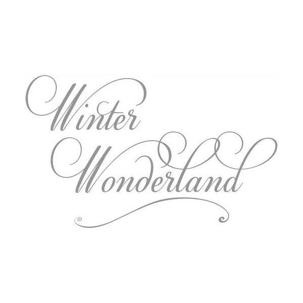 winter wonderland script wall decals liked on polyvore. Black Bedroom Furniture Sets. Home Design Ideas