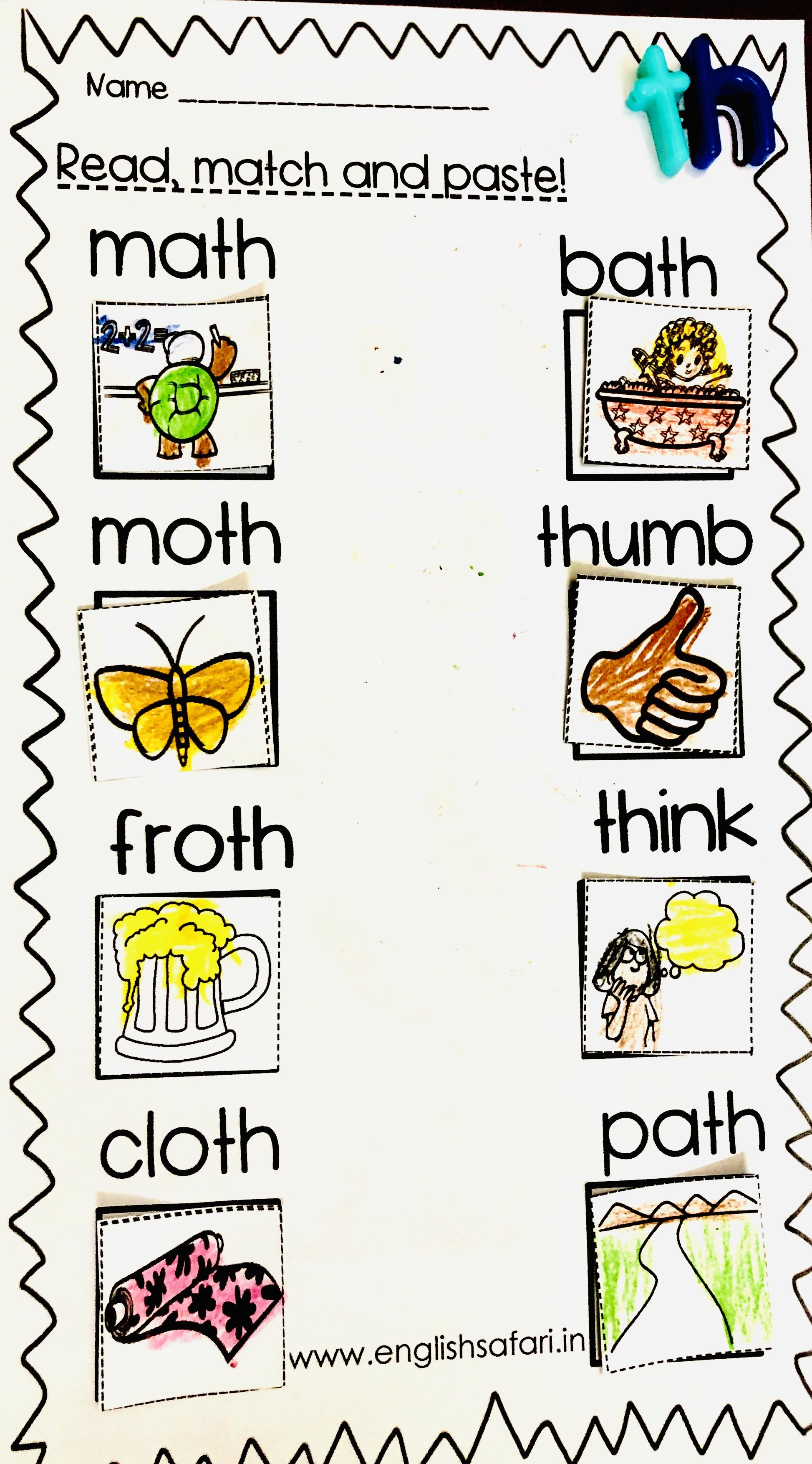 Th Sound Words Worksheets Free Englishsafari