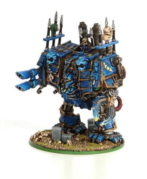 Thousand Sons Dreadnought Thousand Sons Chaos Dreadnought Miniature Painting
