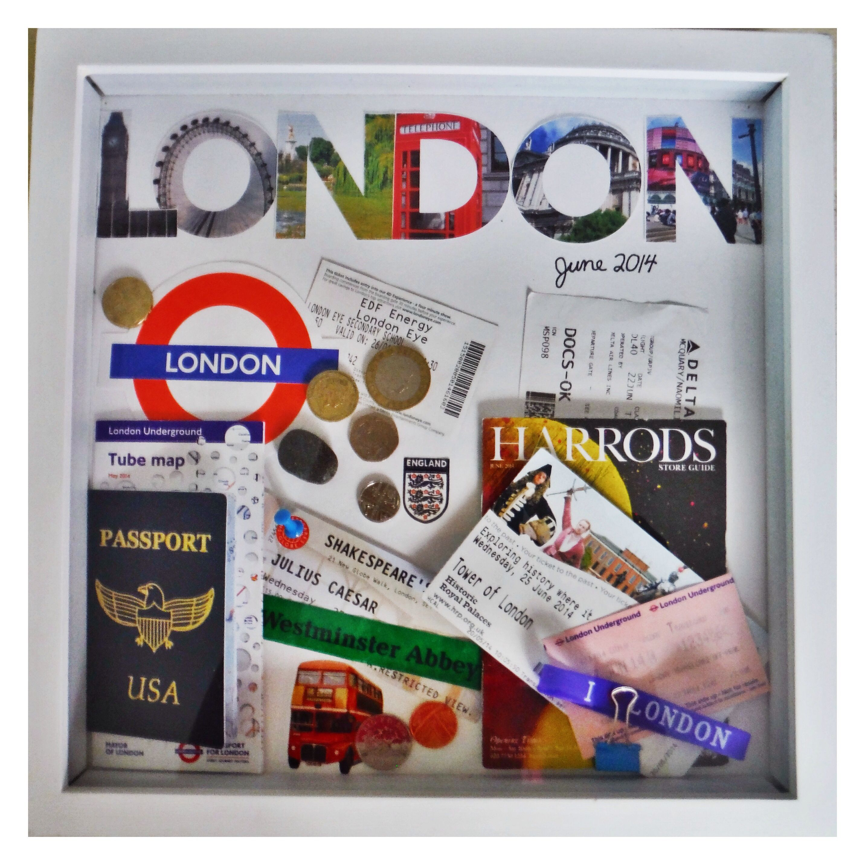 Diy travel memento shadowbox display ticket stubs maps currency diy travel memento shadowbox display ticket stubs maps currency and other precious solutioingenieria Images