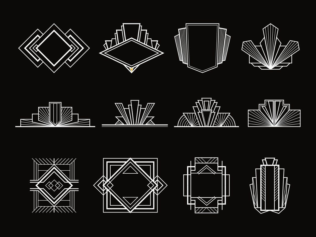 Art Deco Design Elements Art Deco Design Graphics Art Deco Logo Art Deco Tattoo