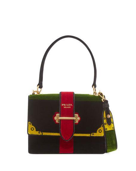 87e755762c2f PRADA Trompe L Oeil Velvet Buckle Bag