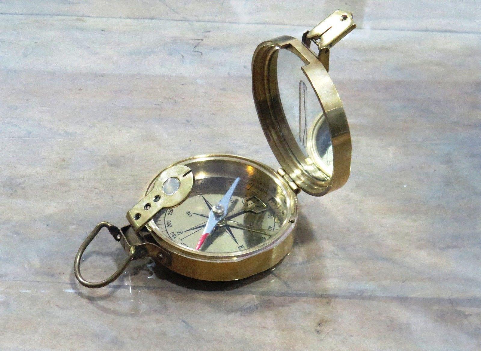 Larp Armory Vintage Brass Marine Maritime Compass Ebay Vintage Brass Brass Compass