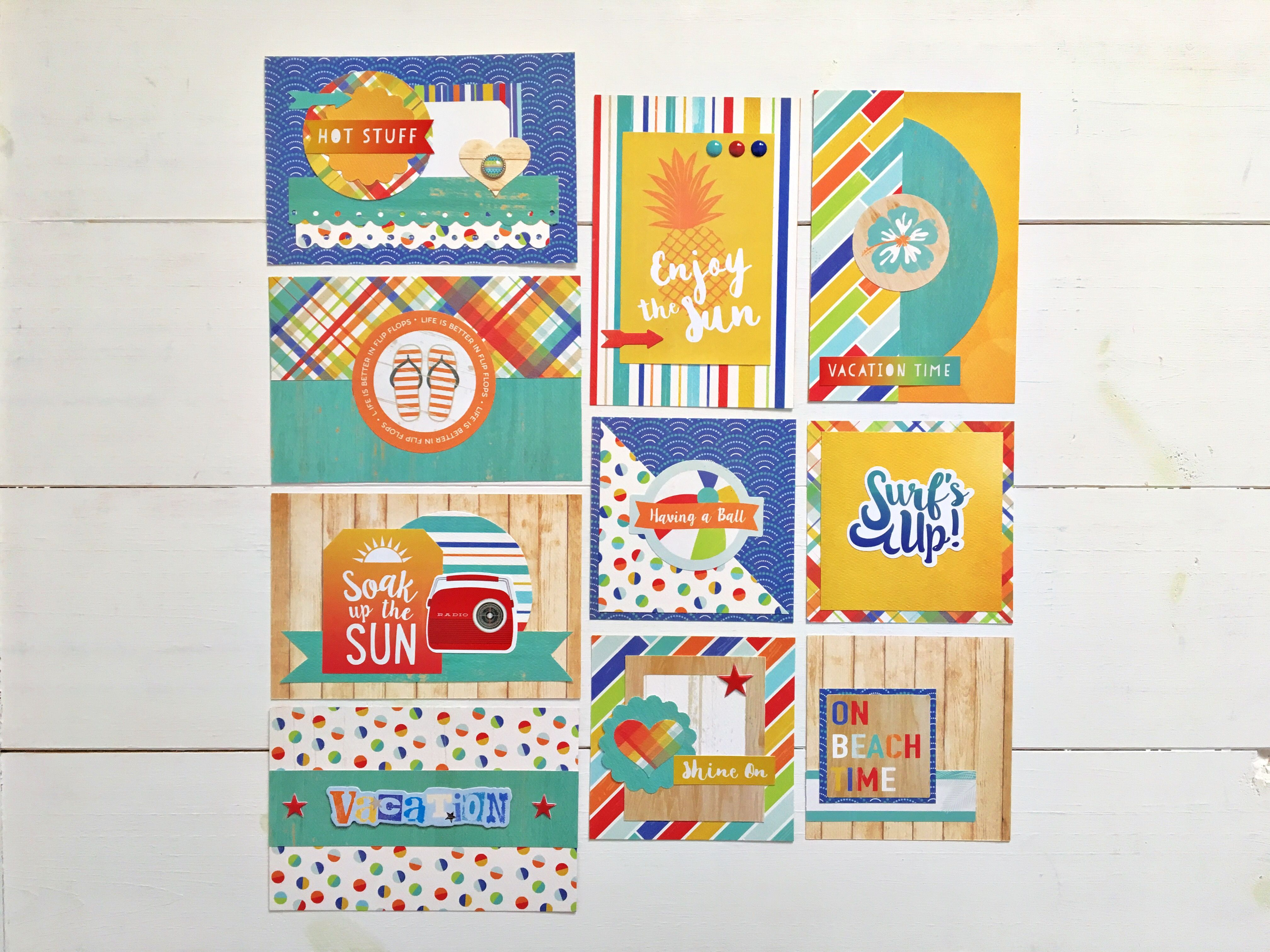 Diy Vacation Pocket Cards Created With Beach Day From Carta Bella
