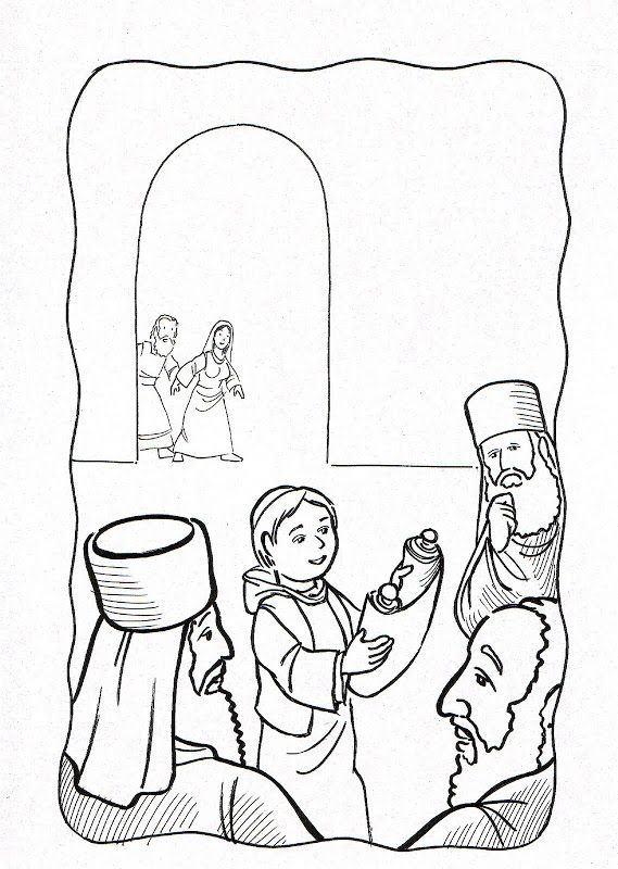 Boy In The Temple Coloring Page Publicado Por Edward En 22 09