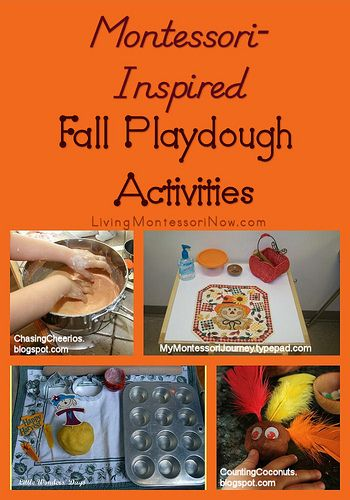 Montessori Monday  Montessori-Inspired Fall Playdough Activities