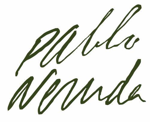 Pablo Neruda Signature