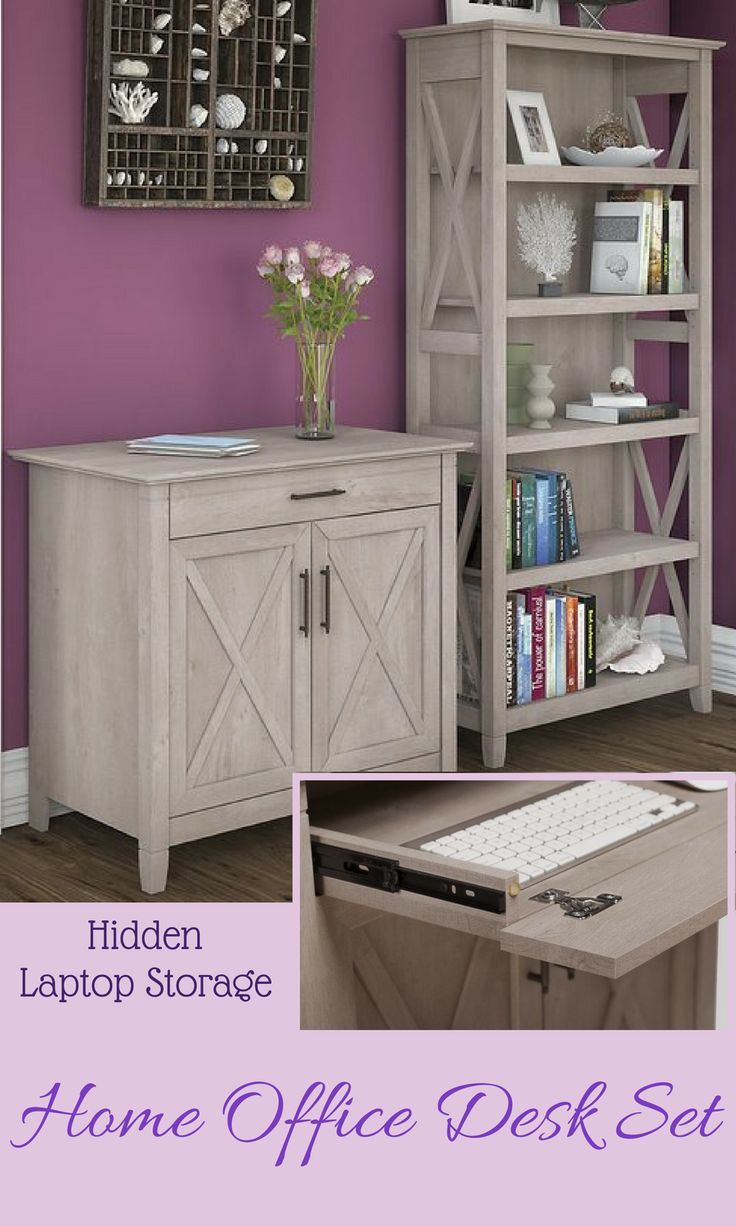 Elegant File Cabinet and Bookcase Combo