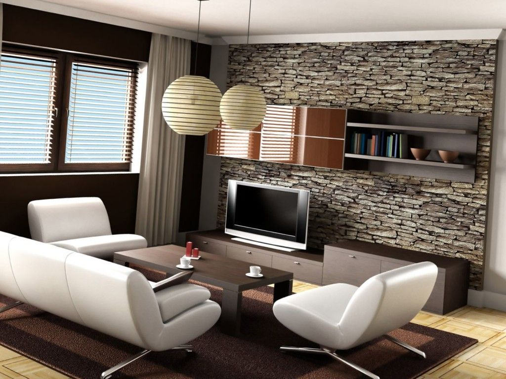 Design room for a young man in a modern style - interior photo