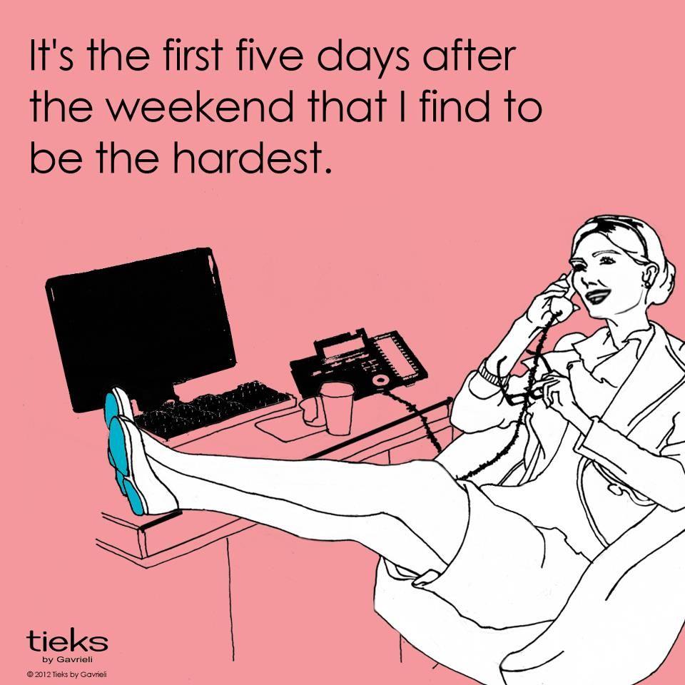 A little humor to help shake off those post-weekend blues :) Have a great week, Tieks fans! #3dayweekendhumor