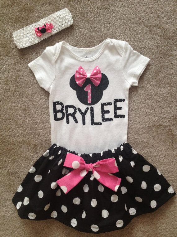 211b4b0ee Minnie Mouse outfit princess Dress first 1st Birthday Pink Skirt ...