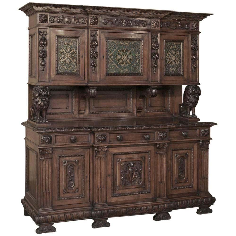 19th Century Italian Renaissance Walnut Two Tiered Buffet Www Inessa Com Meuble De Style Mobilier De Salon Meuble