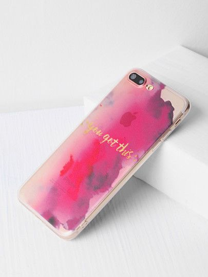 77bd00c28d Discover ideas about Future Iphone. May 2019. Shop Watercolor Pattern iPhone  7 Plus Case online. SheIn offers ...