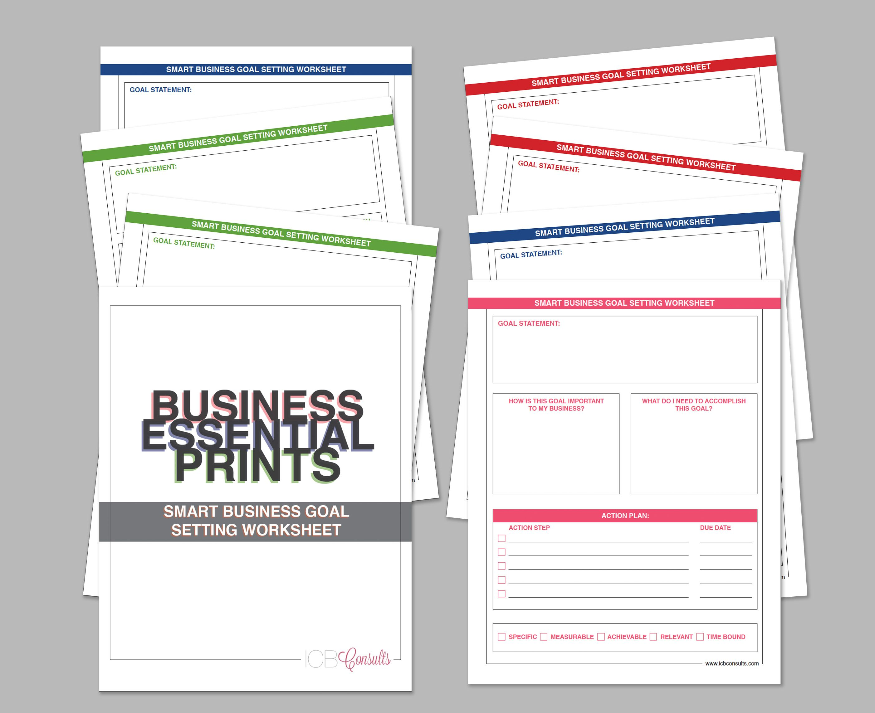 Smart Goals Worksheet For Business
