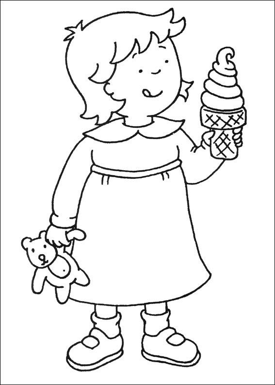 Caillou Print Out CAILLOU Coloring Pages 2 Fun with Elle