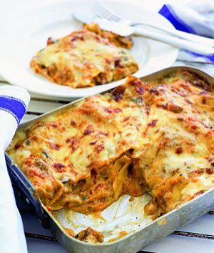 vegetarisk lasagne svamp