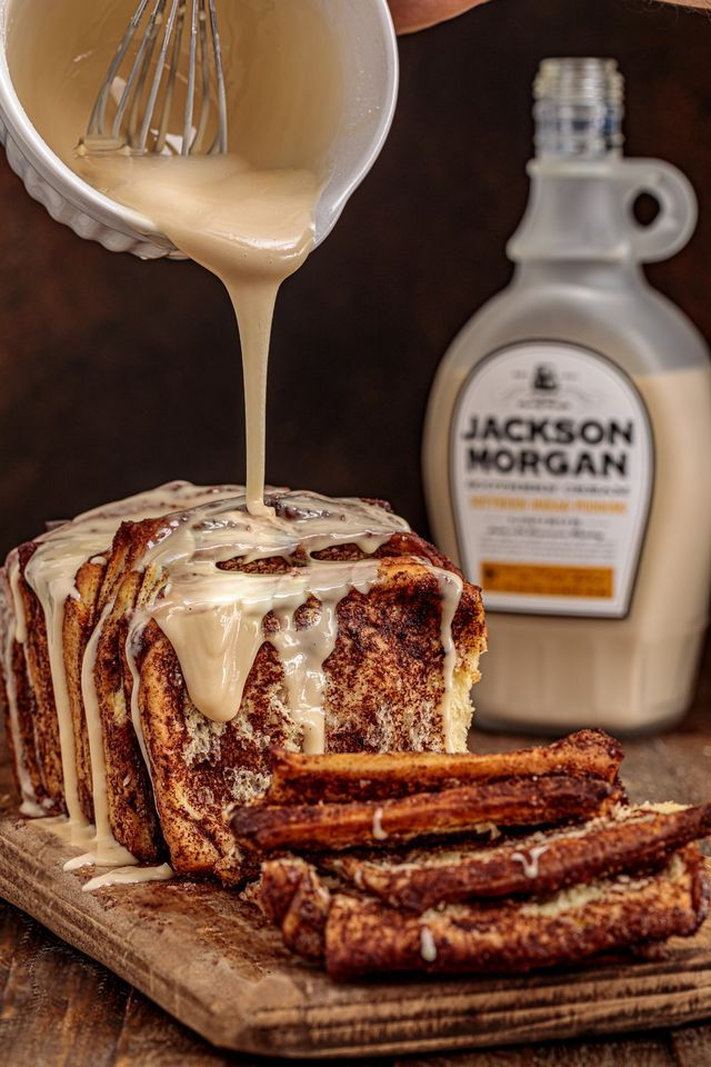 Photo of Cinnamon Sugar Whiskey Glazed Pull-Apart Bread   Southern FATTY   Bloglovin'