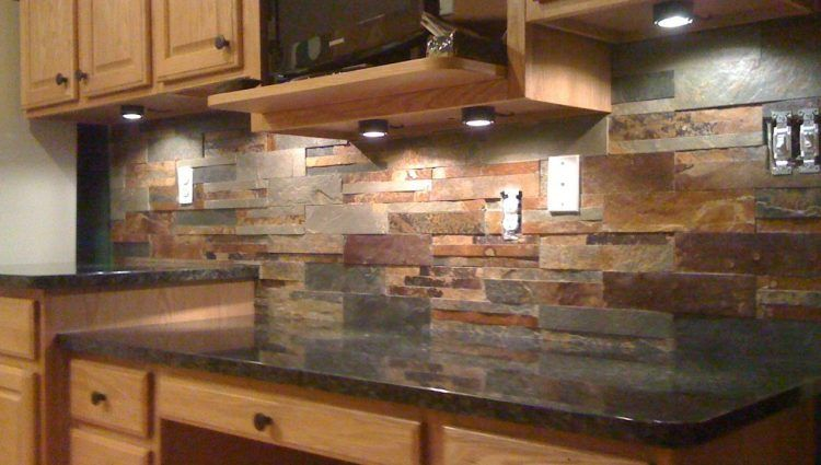 Granite Sandstone Countertop With Tan Cabinet Kitchen Design Ideas ~ Cool backsplash ideas for tan brown granite countertops
