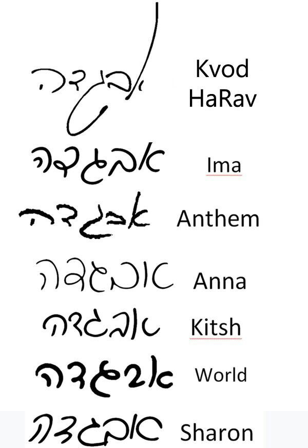 Hebrew Font | Ink Love | Hebrew cursive, Hebrew tattoo