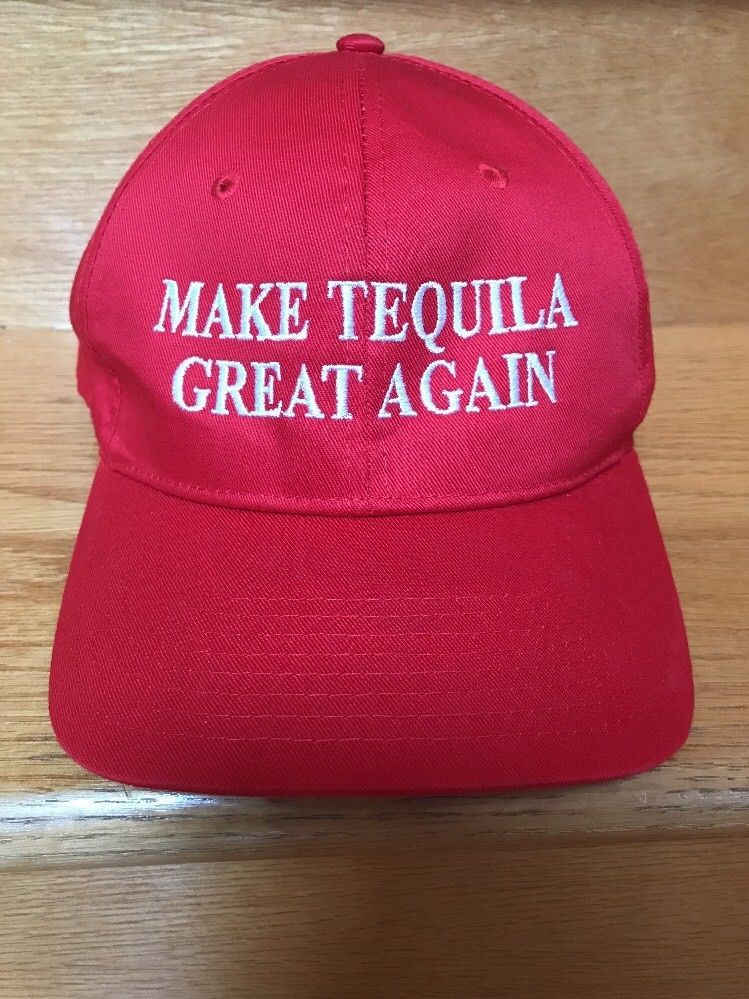 ddbee93bd05f9 MAKE TEQUILA GREAT AGAIN HAT RED STITCHED Jose tequilas cap