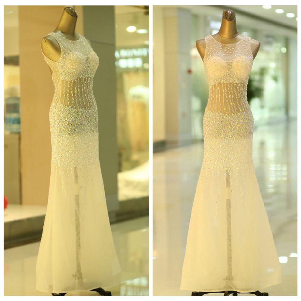 Click to buy ucuc vestido de formatura longo new sparkling